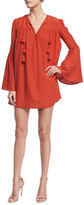 Rachel Zoe Helen Bell-Sleeve Mini Dress, Spice