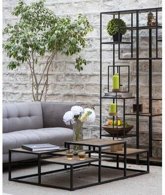 Ivy Bronx Ryalson Coffee Table Table Base Color: Black, Table Top Color: Dark Honey