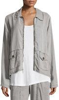 XCVI Alessandra Zip-Front Twill Jacket