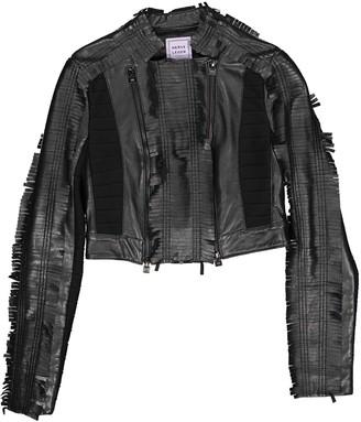 Herve Leger Black Leather Jacket for Women