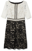 Vince Camuto Two-tone Lace Dress