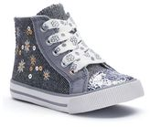 Jumping Beans® Toddler Girls' Sequin High-Top Sneakers