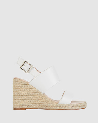 Jane Debster - Women's White Wedge Sandals - Dice - Size One Size, 37 at The Iconic