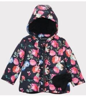 S. Rothschild Rothschild Baby Girls Ruffle Jacket with Mittens