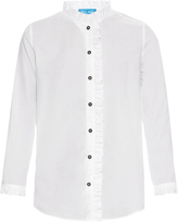 MiH Jeans Laing ruffle-trimmed cotton blouse