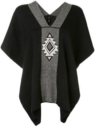 Voz Estrella knitted poncho