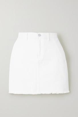 By Malene Birger Akania Frayed Organic Denim Mini Skirt