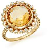 Bloomingdale's Citrine and Diamond Statement Ring in 14K Yellow Gold