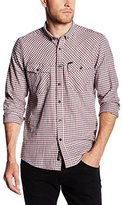 Duck and Cover Men's Sanderson Checkered Long Sleeve Casual Shirt
