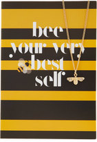 Lydell NYC Bee Necklace with Card