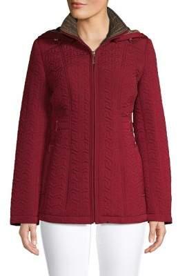 Gallery Quilted Zip-Front Coat