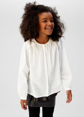 MANGO Glossed-effect applique blouse