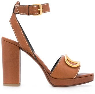 Valentino Garavani VLOGO leather platform sandals