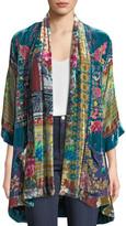 Johnny Was Biza Printed Velvet Kimono Jacket