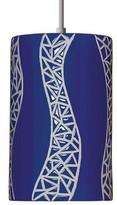 Mosaic Collection 1 - Light Single Cylinder Pendant A19 Finish: Cobalt Blue, Bulb Type: Incandescent