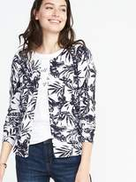 Old Navy Classic Printed Crew-Neck Cardi for Women