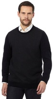 Jeff Banks Big And Tall Navy Patterned Jumper