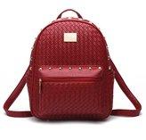 Hynbase Women Fashion Cute Mini PU Leather Schoolbag Backpack Shoulder Bag
