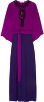 Oscar de la Renta Embellished silk maxi dress