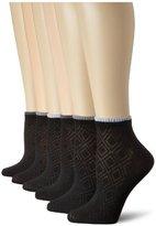 Jones New York Women's Diamond Textures and Ribs Sport Lowcut Socks (6-Pack)