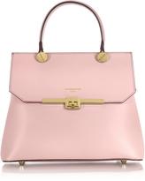 Le Parmentier Atlanta Candy Pink Leather Top Handle Satchel Bag w/Shoulder Strap
