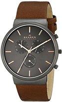 Skagen Men's SKW6106 Ancher Saddle Leather Watch