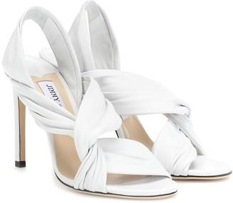 Jimmy Choo Lalia 100 leather sandals