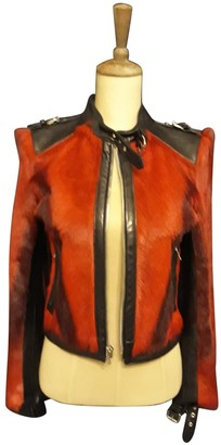 Dolce & Gabbana Red Leather Leather Jacket for Women Vintage