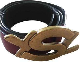 Saint Laurent Purple Leather Belts
