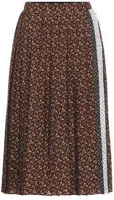 Burberry Monogram pleated midi skirt