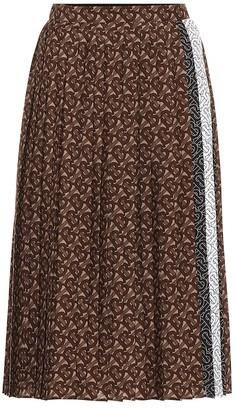 Burberry Monogram pleated midi skirt