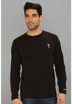 U.S. Polo Assn. Heathered Active Long Sleeve Crew Neck