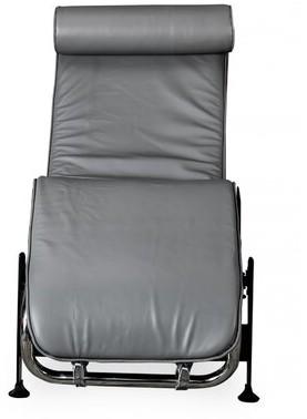 Rosdorf Park Willman Leather Chaise Lounge Fabric: Gray