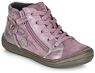 Geox J HADRIEL GIRL girls's Mid Boots in Purple