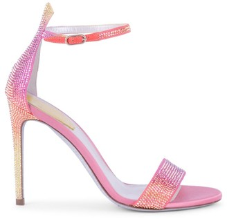 Rene Caovilla Celebrita Crystal-Embellished Satin Sandals