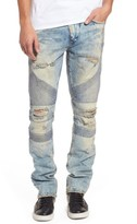 PRPS Men's Le Sabre Slim Fit Moto Jeans