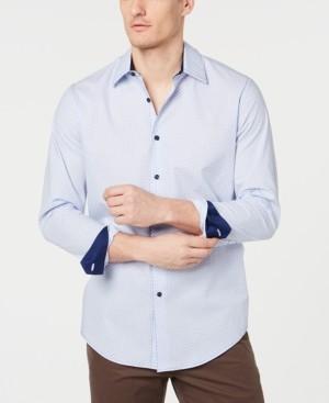 Tasso Elba Men's Stretch Dot Stripe Shirt, Created for Macy's