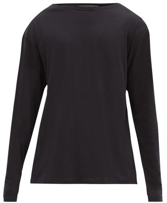 Haider Ackermann Boat-neck Cotton-jersey Long-sleeved T-shirt - Black