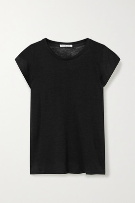 Frances de Lourdes - Garcon Slub Cashmere And Silk-blend T-shirt - Black