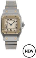 Cartier Pre-Owned Ladies Bimetal Santos Quartz Watch. Off-White Dial. Ref 166930