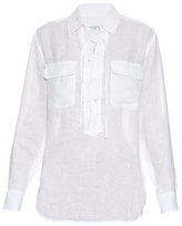 Equipment Knox lace-up linen shirt