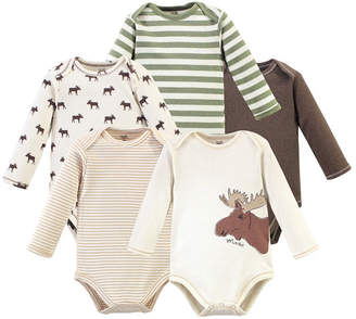 Touched By Nature Baby Boy Bodysuits, 5 Pack