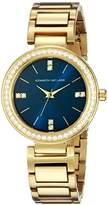 Kenneth Jay Lane Women's KJLANE-2610 Glitz Gold-Tone Crystal-Accented Bracelet Watch