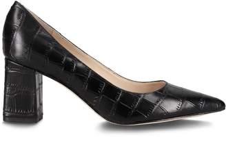 Marc Fisher Zala Crocodile-Embossed Leather Pumps
