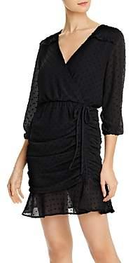 Aqua Ruched Clip Dot Dress - 100% Exclusive