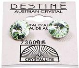 Crystallite Destine Chrysolite Rivoli Earrings