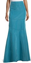 Escada Mid-Rise Seamed Trumpet Skirt, Medium Blue