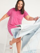 Thumbnail for your product : Old Navy Vintage Short-Sleeve Tie-Dye Plus-Size T-Shirt Mini Shift Dress