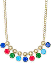 Charter Club Gold-Tone Pave and Colored Stone Necklace, Created for Macy's