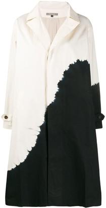 Suzusan Tie-Dye Single-Breasted Coat